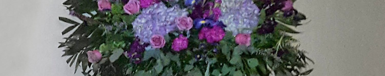 Purple/Blue Flower Mix End Vase