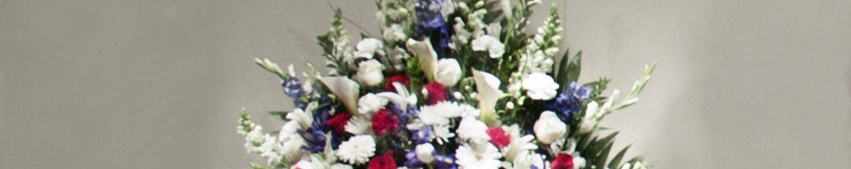 Red, White & Blue End Vase