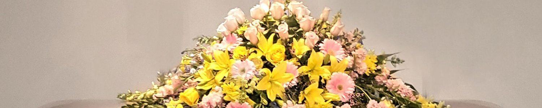 Spring Flower Mix Casket Spray