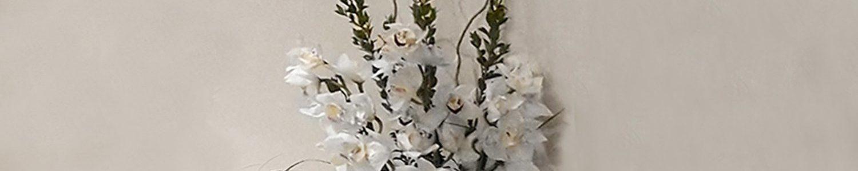 Cymbidium Orchid In Ceramic Vase