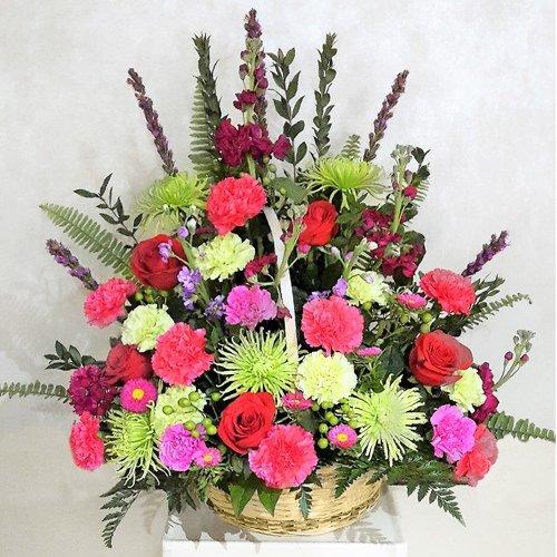 Spring flower mix in basket lofendo flowers spring flower mix in basket mightylinksfo