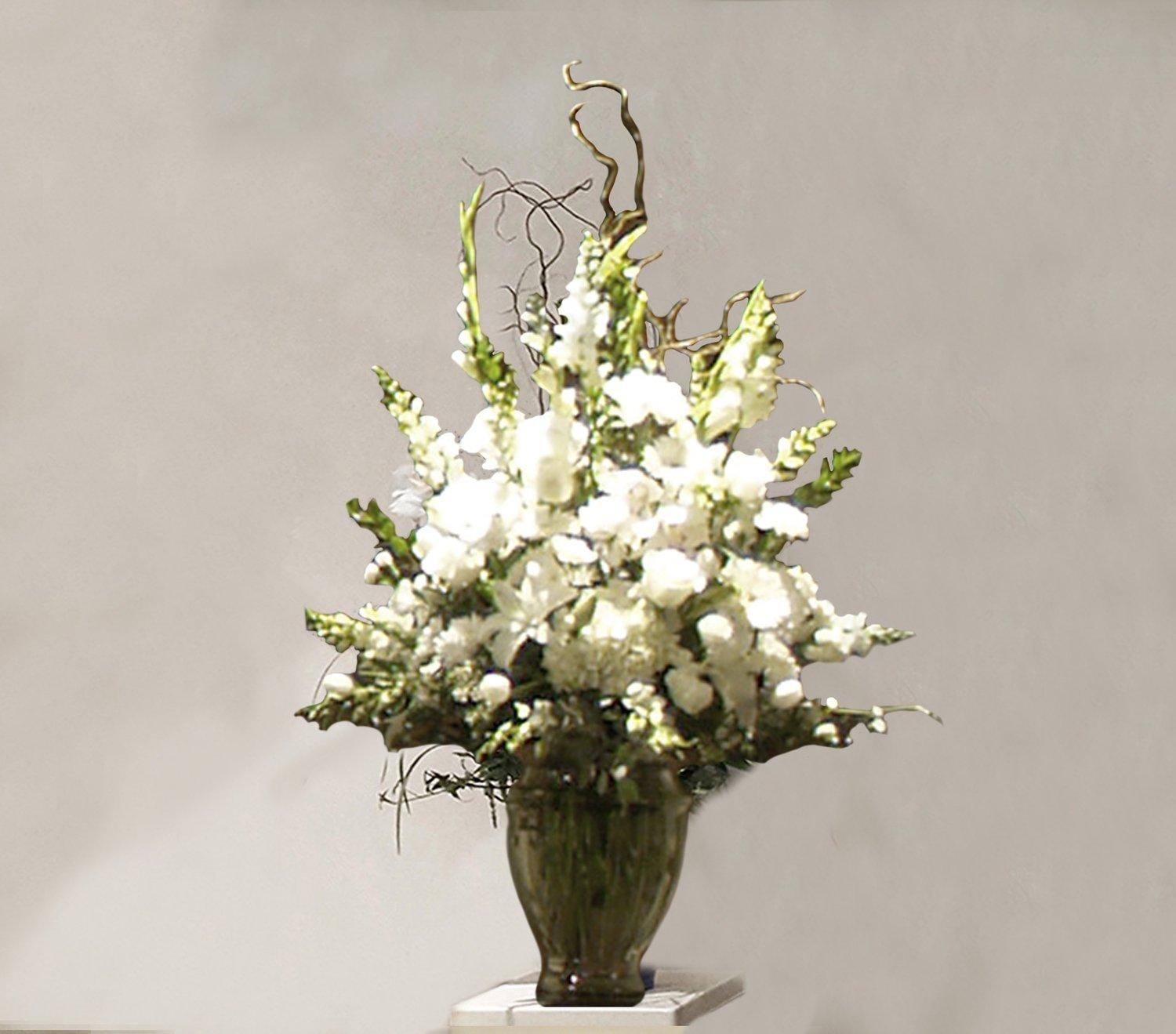 Funeral flower arrangements to honor loved ones lofendo flowers white flower mix grecian vase izmirmasajfo