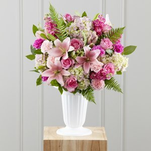 Assorted Pinks in Flower Vase