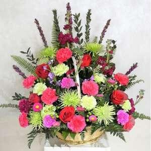 Spring Flower Mix in Basket