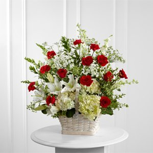 Red & White Mix Basket