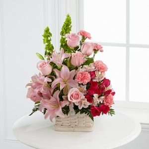 Hot Pink Flower Mix Basket