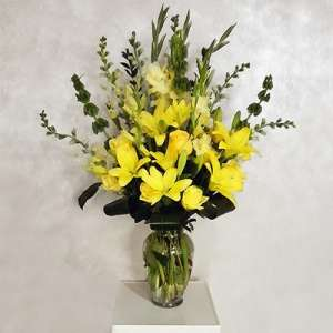 Yellow Flower Mix in Vase