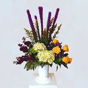 Mixed Fresh Flower Arrangement in Vase