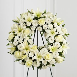 White Flower Mix Wreath
