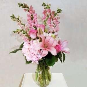 Pink Flower Mix in Vase
