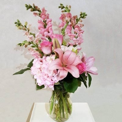 Pink Flower Mix in Vase