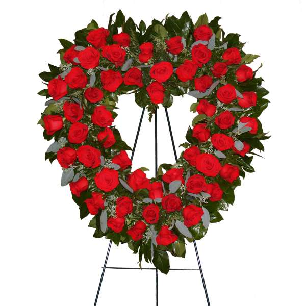 Roses Heart Easel