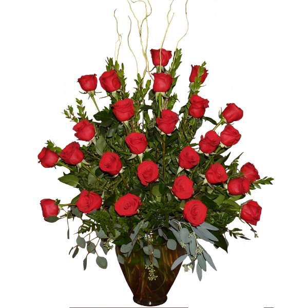 Large Roses Vase