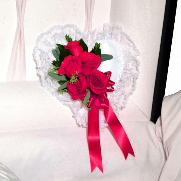 Roses Satin Heart