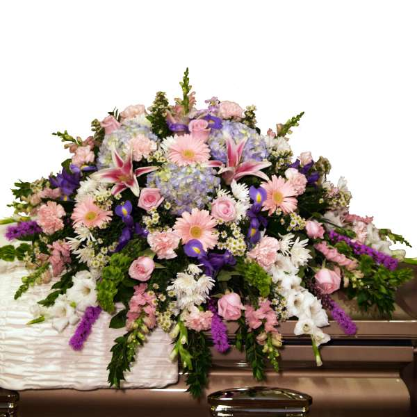 Pastel Casket Spray