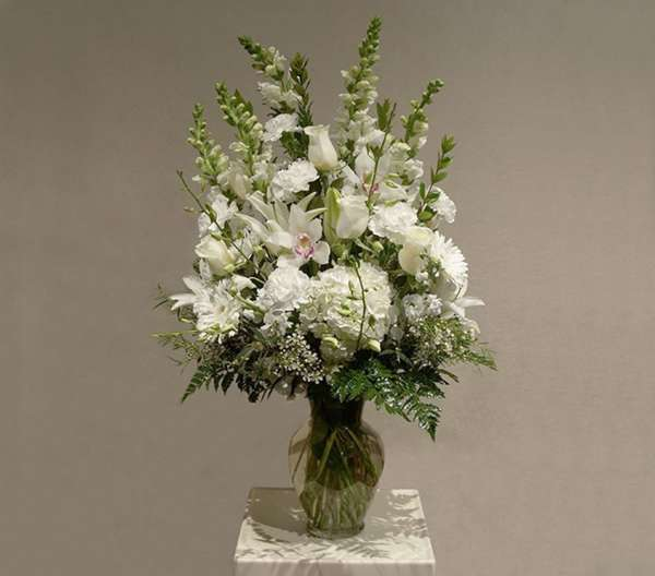 White Flower Mix in Vase