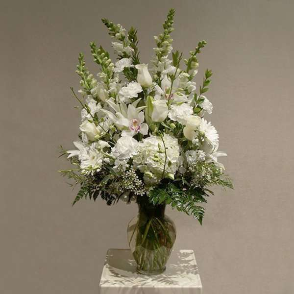 White Flower Mix in Vase